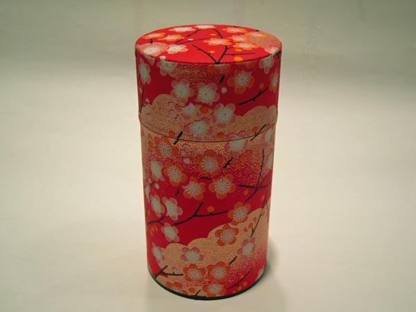 和紙茶缶茶筒150g108