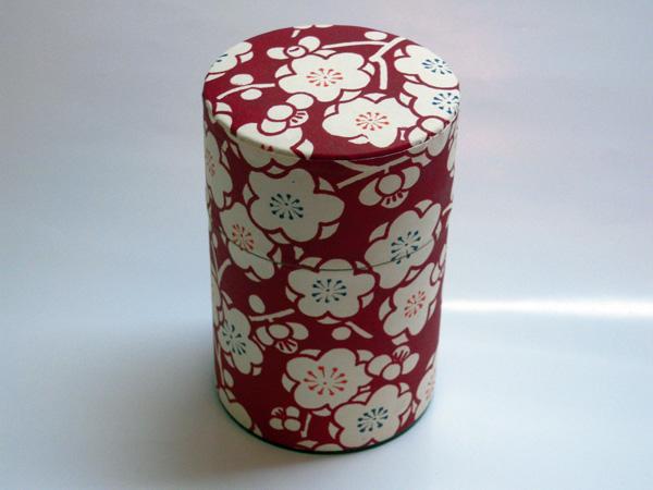 和紙茶缶茶筒100g⑨